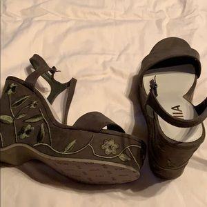Fabulous Wedge with design on the heel